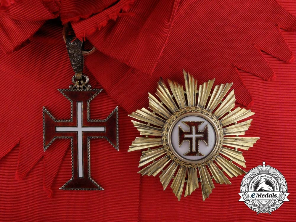 eMedals-Portugal. A Military Order of Christ, Grand Cross Set with Case