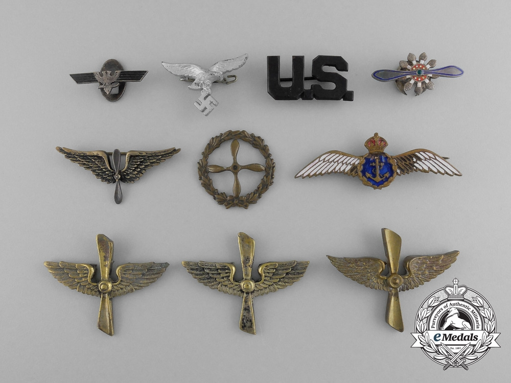 eMedals-A Grouping of International Aviation Pins