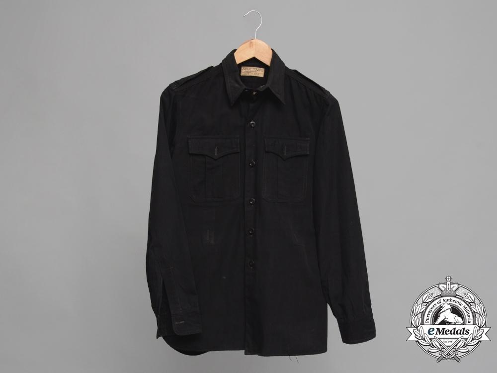 eMedals-A Rare SS Black Panzer Service Shirt