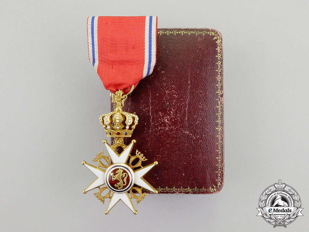 eMedals-Norway, Kingdom. An Order of St. Olaf in Gold, I Class, by J.Torstrup, c.1910