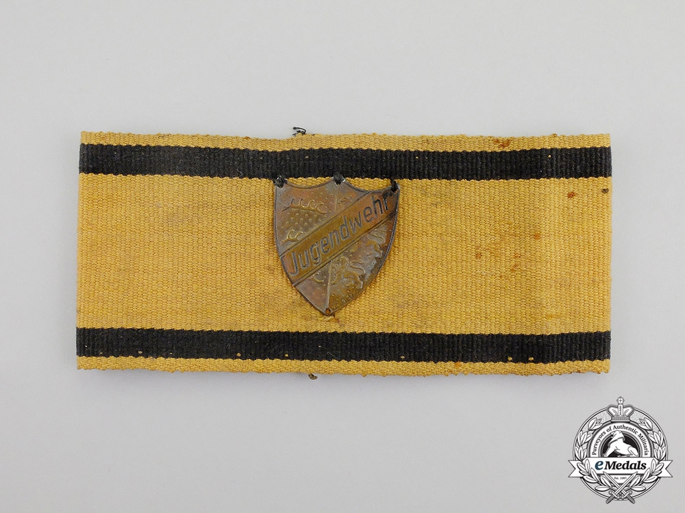 """eMedals- A Second War German """"Youth Defence"""" Member's Armband"""