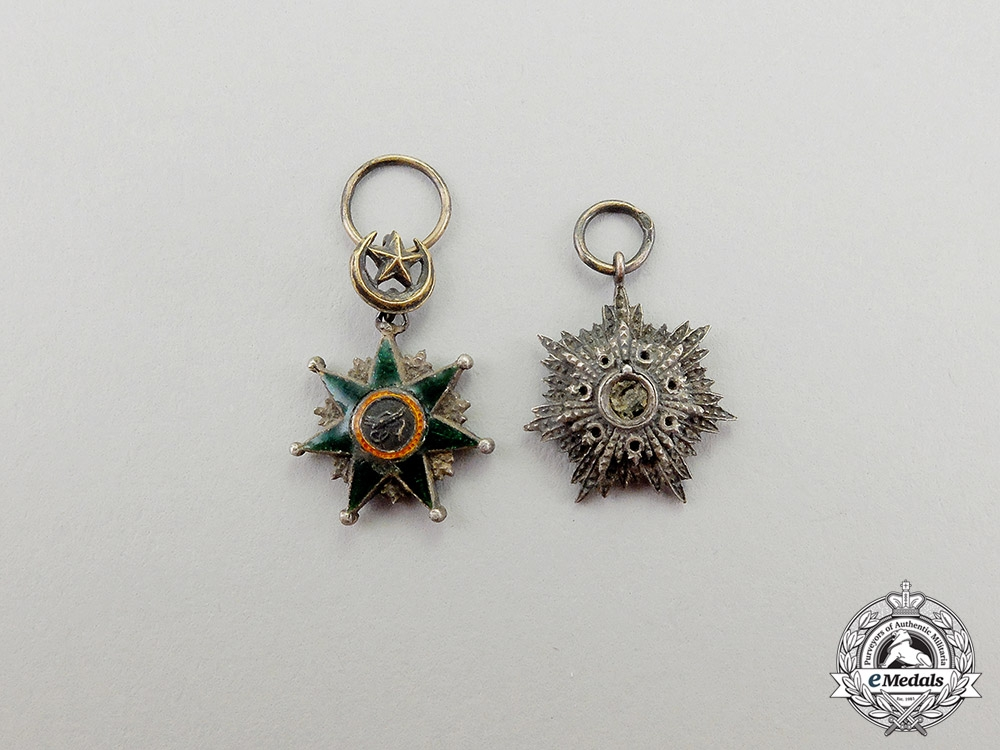 eMedals-Turkey. Two Ottoman Empire Miniature Orders