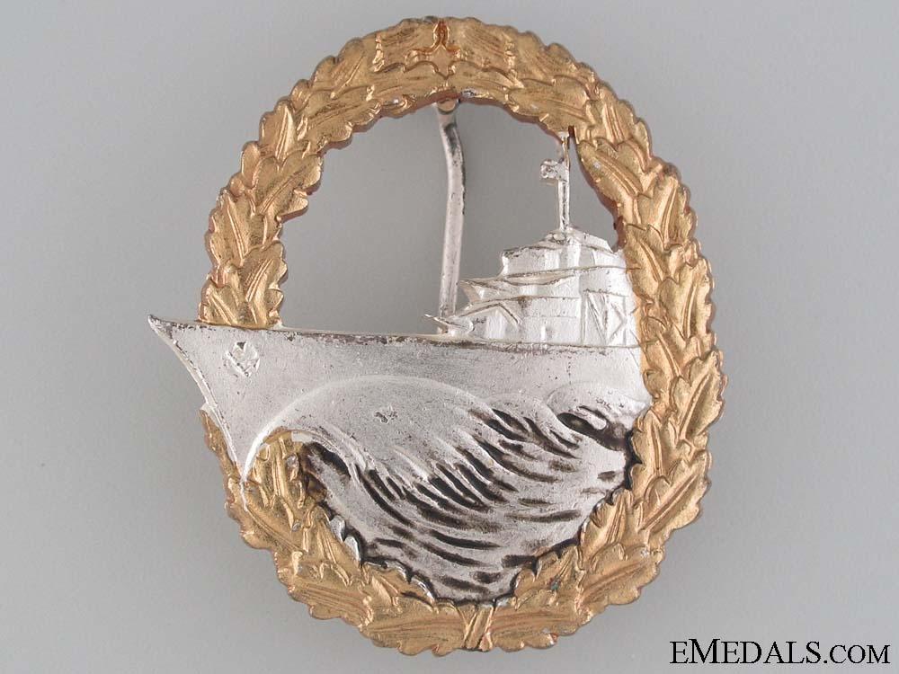 eMedals-Destroyer War Badge - 1957 Issue
