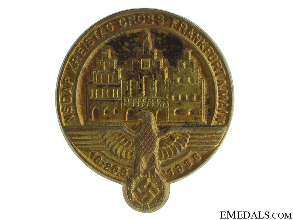 eMedals-NSDAP Frankfurt County Council 1938 Tinnie