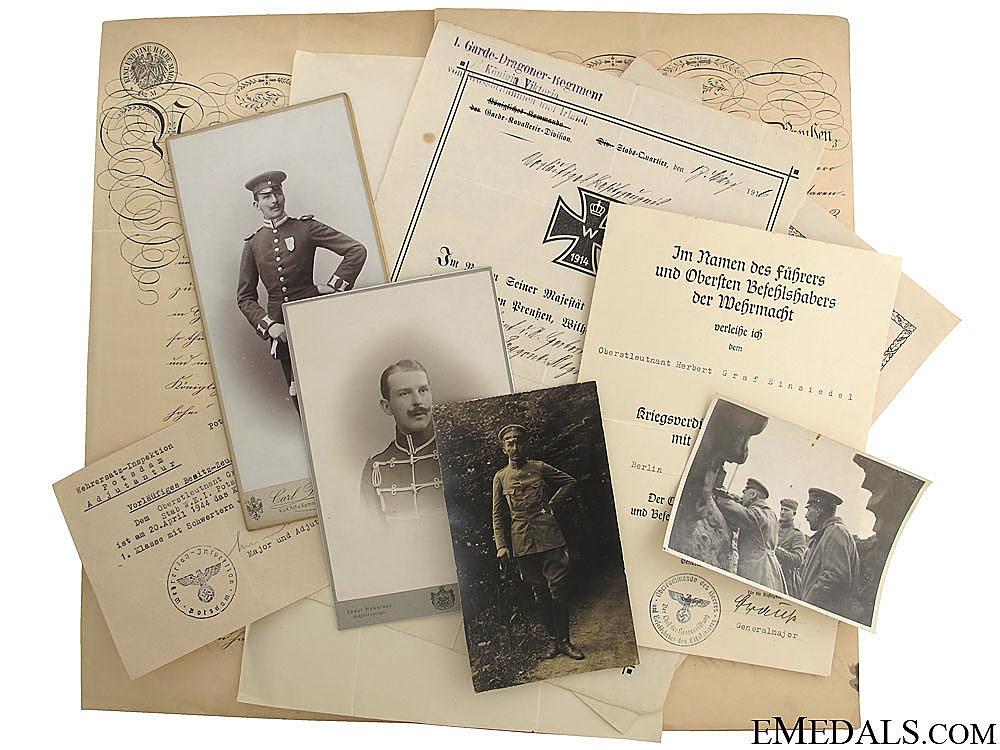eMedals-Documents to Oberstleutnant Graf Einsiedel