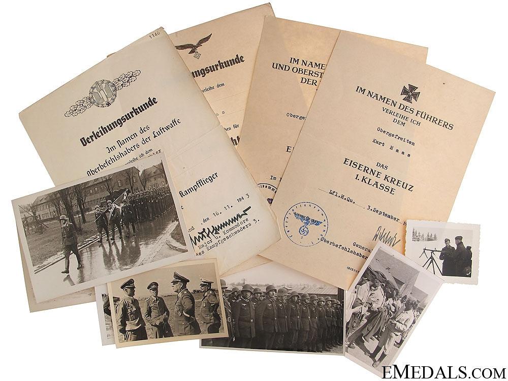 eMedals-Documents to Obergefreiter Kurt Haas