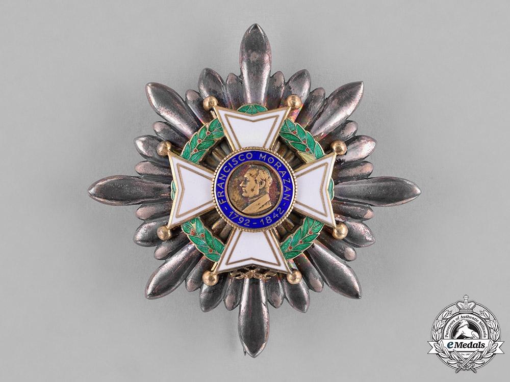 eMedals-Honduras, Republic. An Order of Francisco Morazan, I Class Grand Cross Star, by Cravanzola-Gardino, c.1948