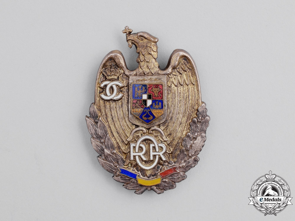 eMedals-Romania, Kingdom. A Reserve Officer's Badge, c.1935