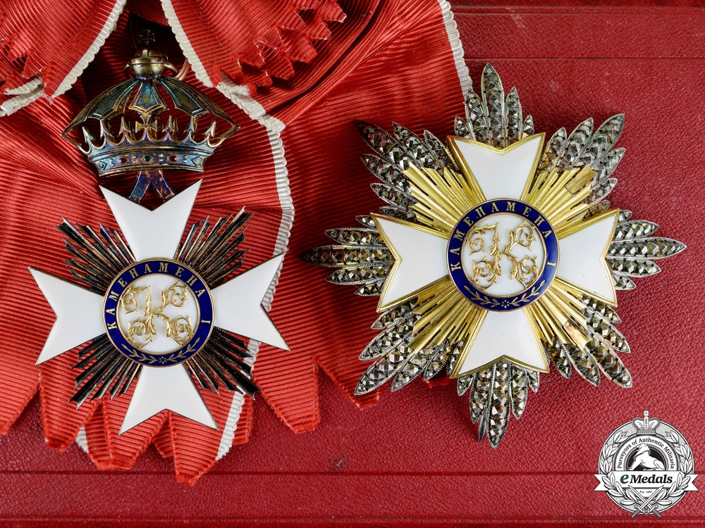 eMedals-Hawaiʻi, Kingdom. The Royal Order of Kamehameha I (KGCOK), Knight Grand Cross of Sir John Bowring, the Governor of Hong Kong