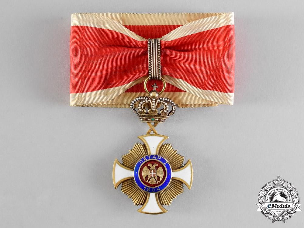 eMedals-Serbia, Kingdom. An Order of Karageorge, III Class Commander, by Bertrand, Paris, c.1918