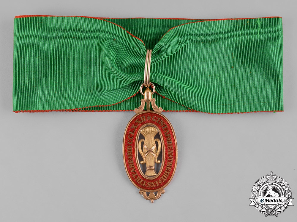 eMedals-Sweden, Kingdom. An Order of Vasa in Gold, I Class Commander, c.1815