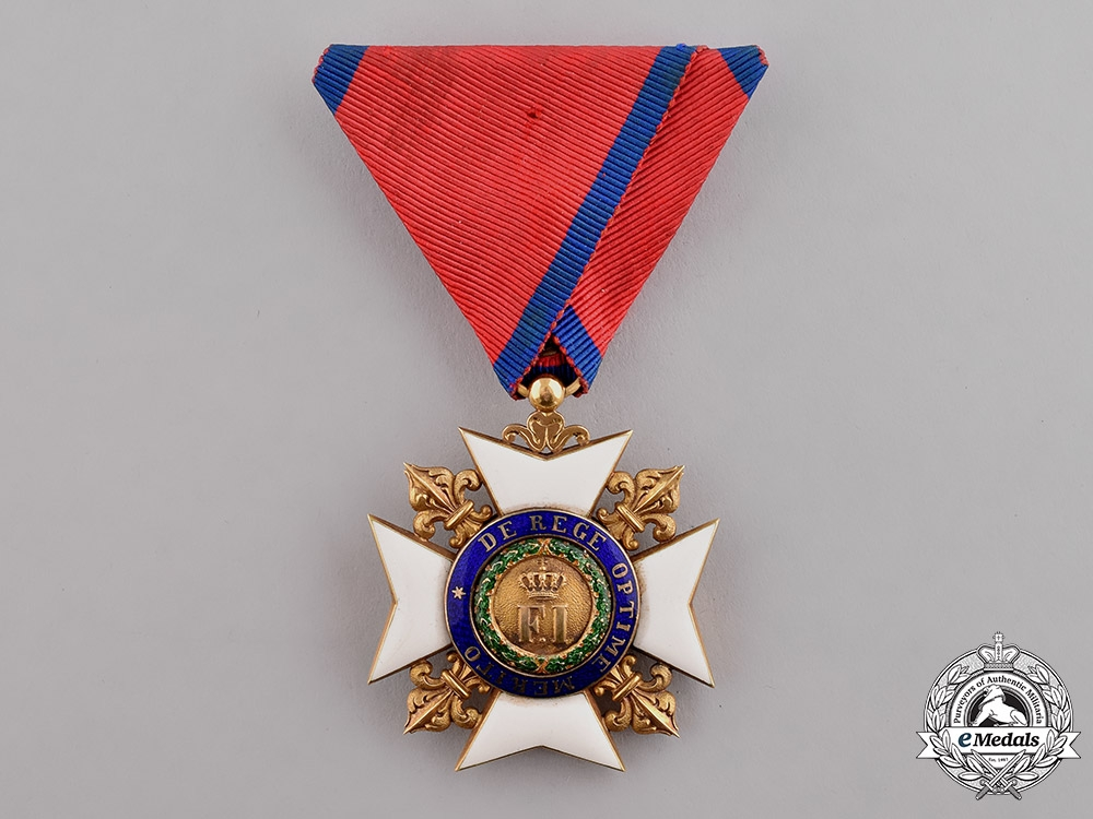 eMedals-Italian States, Kingdom of the Two Sicilies. A Royal Order of Francis I in Gold, II Class Knight, by Rothe, c.1875