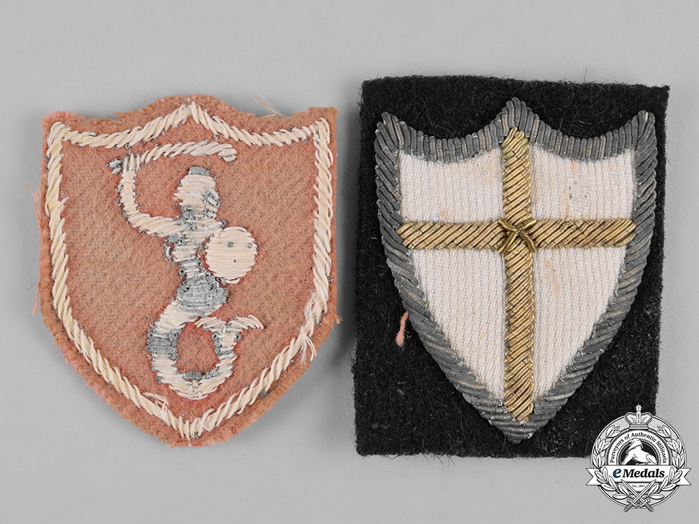 eMedals-Poland, Republic. Two Second War Army Sleeve Insignia