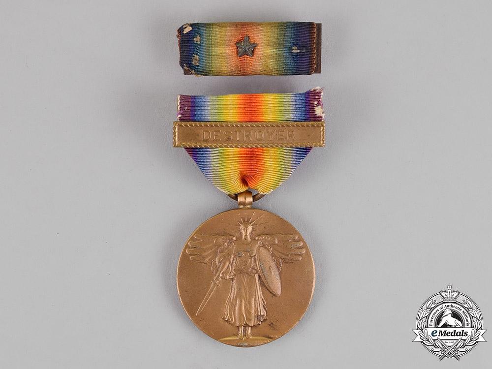 eMedals-United States. A World War I Victory Medal, Destroyer