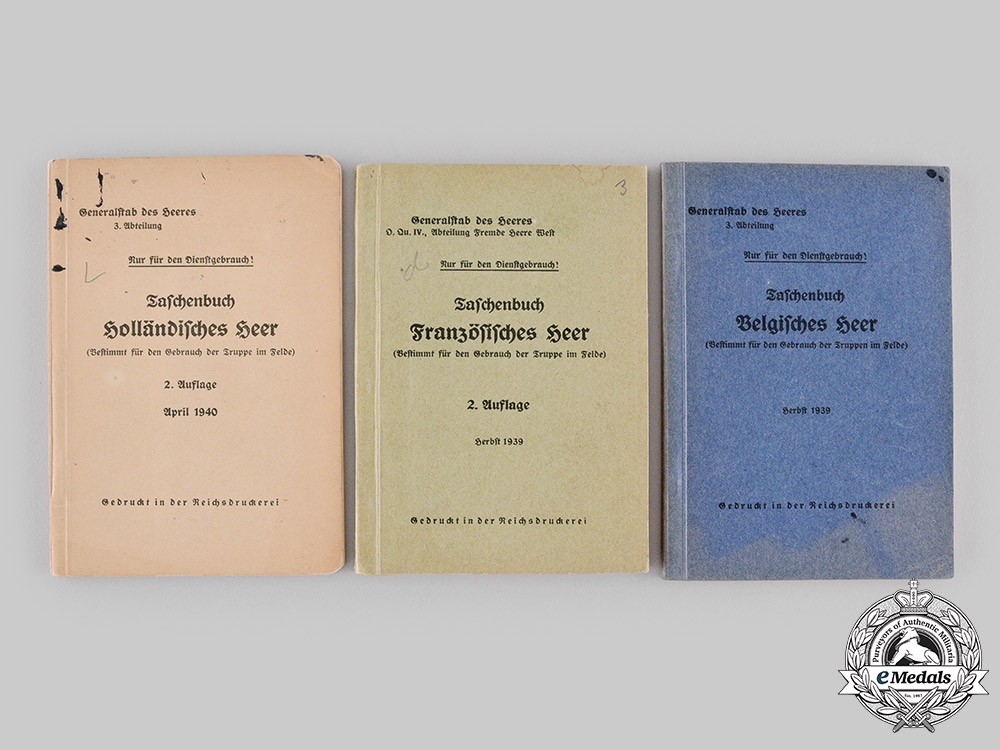 eMedals-France, Third Republic; Germany, Third Reich. Four Publications from the Library of Dr.Goodwin