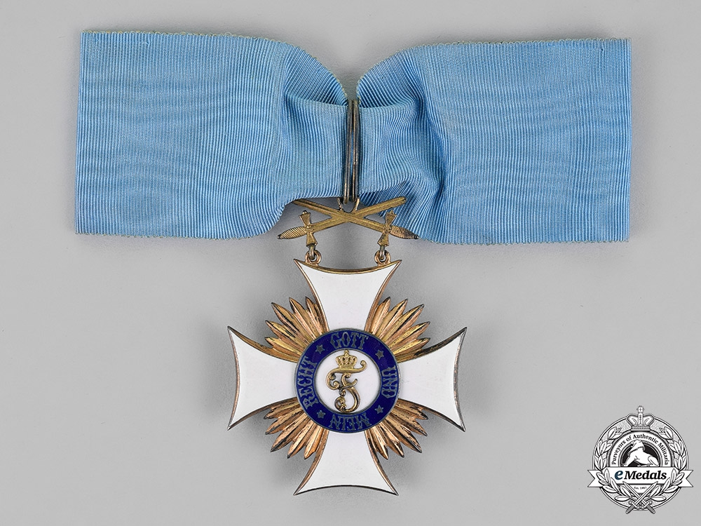 eMedals-Württemberg, Kingdom. An Order of Friedrich, Commander's Cross with Swords, c.1914