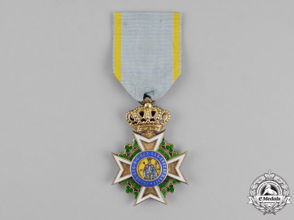 eMedals-Saxony, Kingdom. A Military Order of St. Henry, Knight's Cross, c.1918