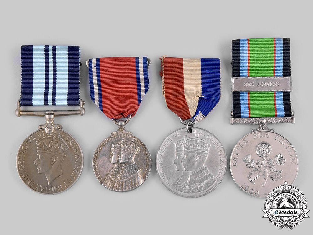 eMedals-United Kingdom. A Lot of Four British Medals and Awards