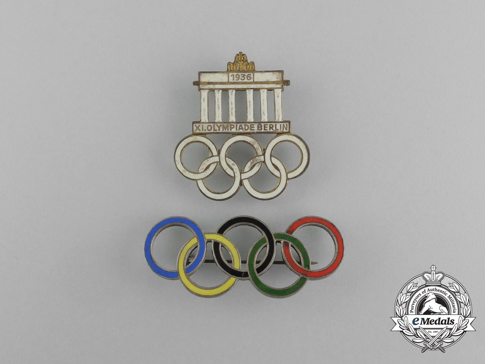eMedals-A Grouping of Two XI Summer Olympic Games (1936) Pins