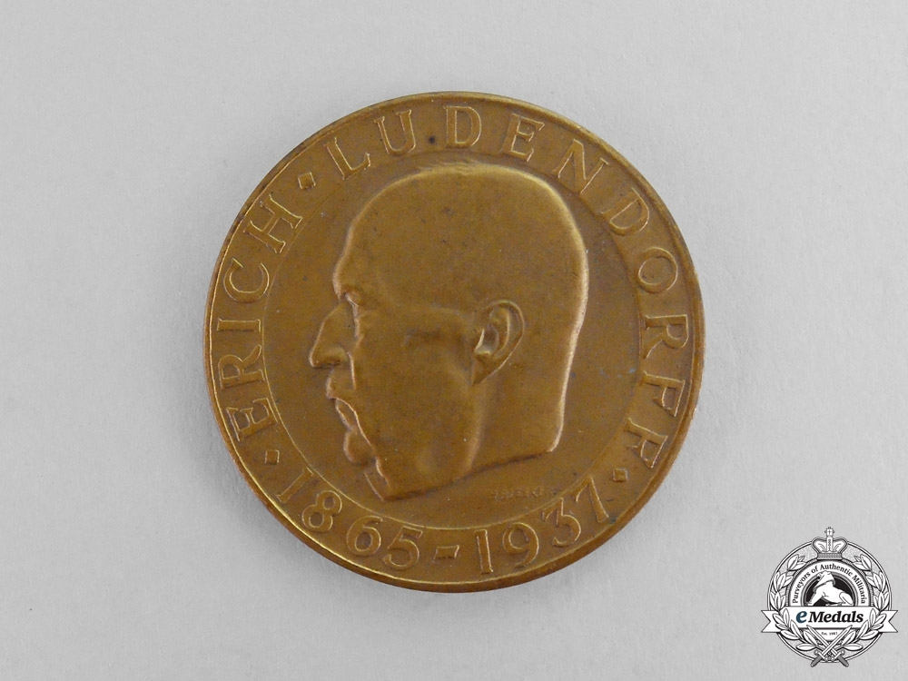 eMedals-Erich Ludendorff Comm. Medal 1865-1937