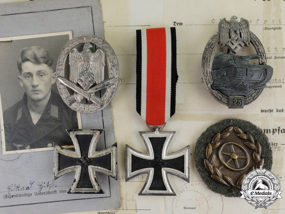 eMedals-Germany. A Collection of Decorations and Award Documents to Anti-Tank Obergefreiter E. Hitzl