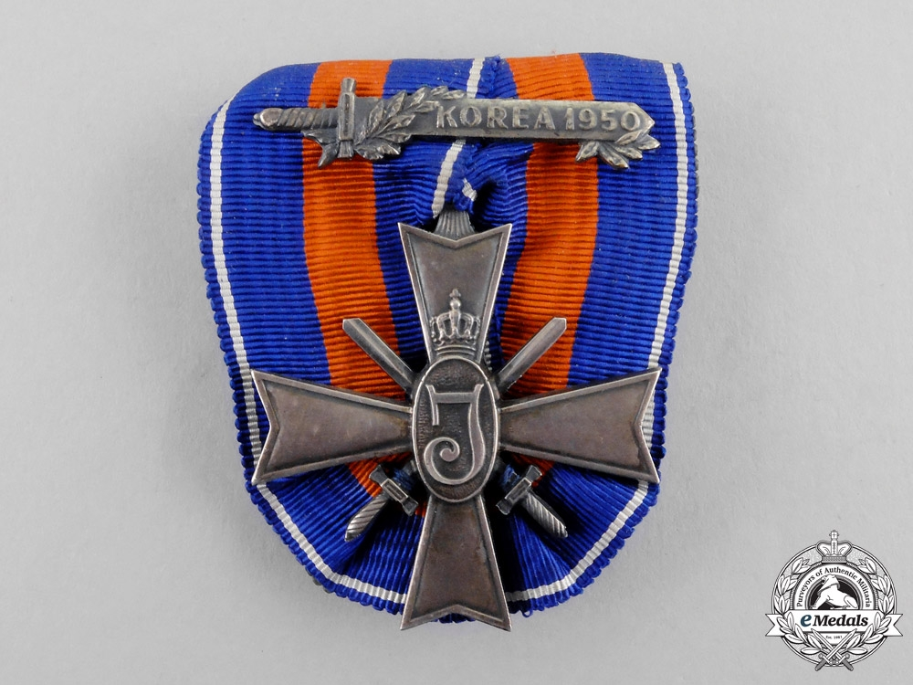 eMedals-Netherlands. A Cross for Freedom and Justice, Korea 1950