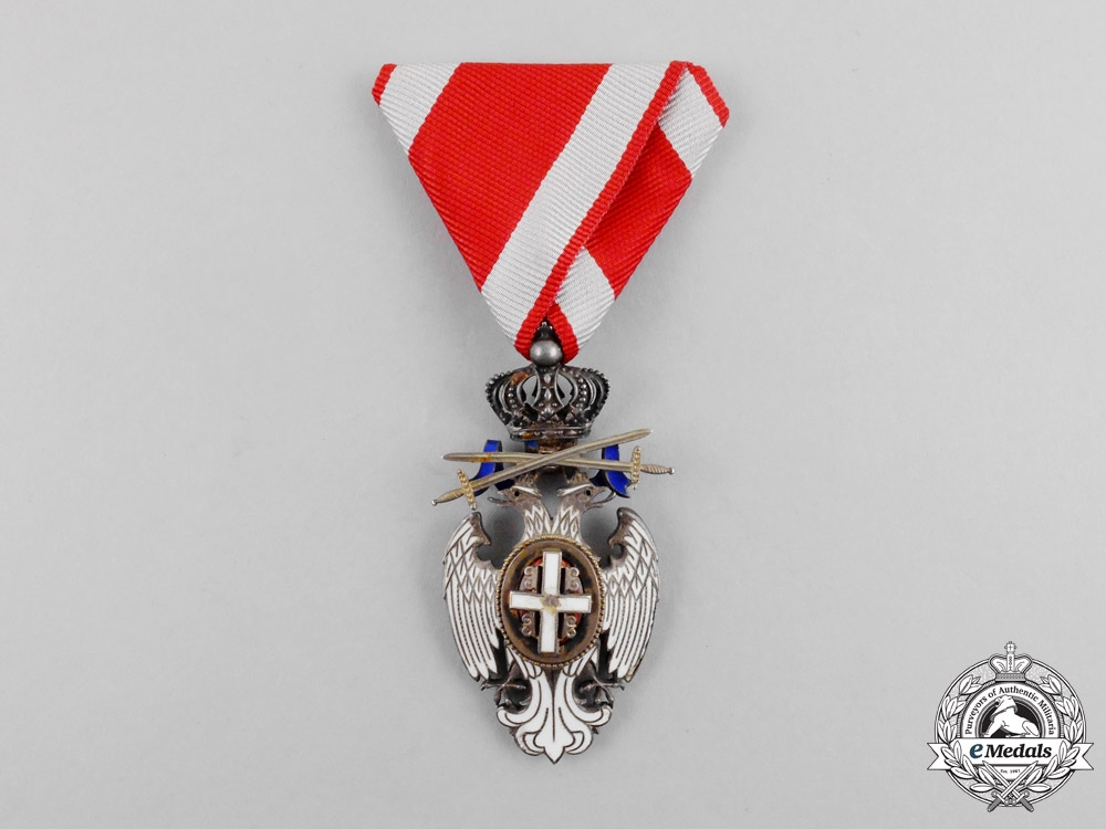 eMedals-Serbia, Kingdom. An Order of the White Eagle, Knight with Swords, Type II, c.1914