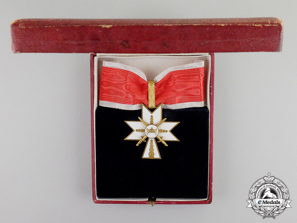 eMedals-Croatia, Independent State. An Order of King Zvonimir's Crown, I Class with Swords, c.1942