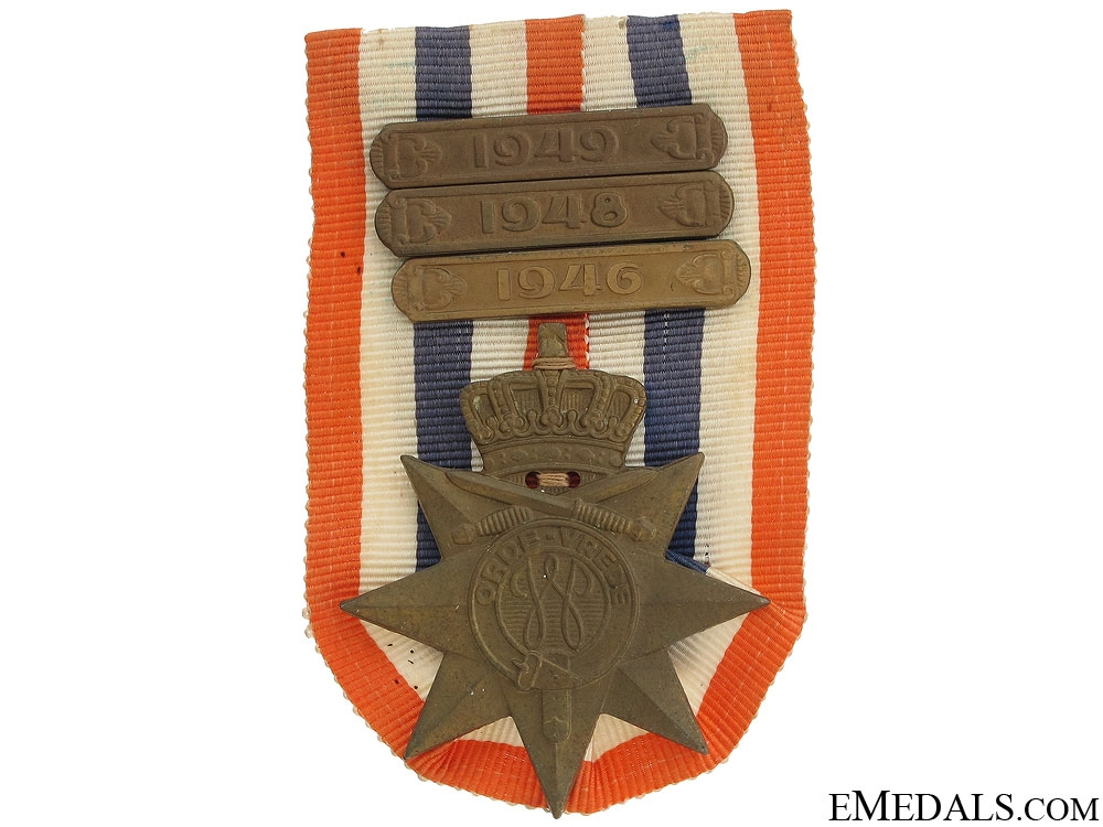 eMedals-Dutch Cross for Order and Peace with 3 Bars