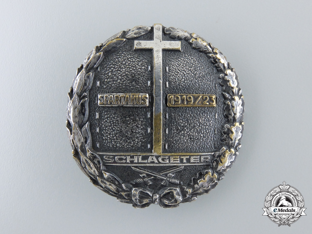 eMedals-A 1923-24 Schlageter Badge; First Version by Paul Kust