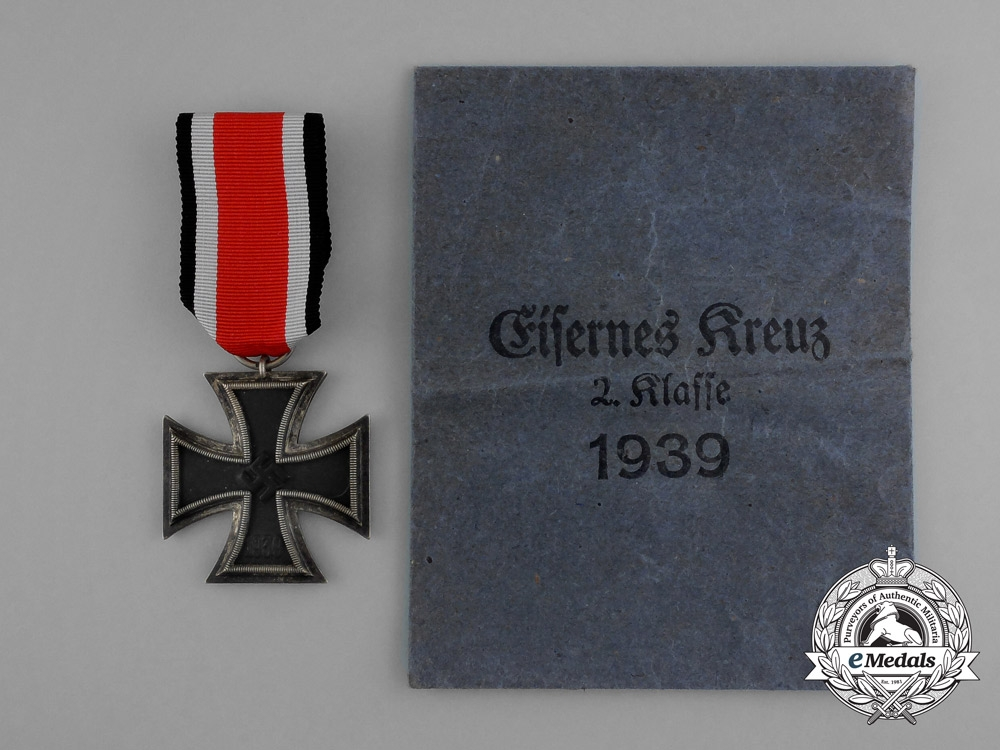 eMedals-An Austrian Made Iron Cross 1939 Second Class by Friedrich Orth in its Original Packet of Issue