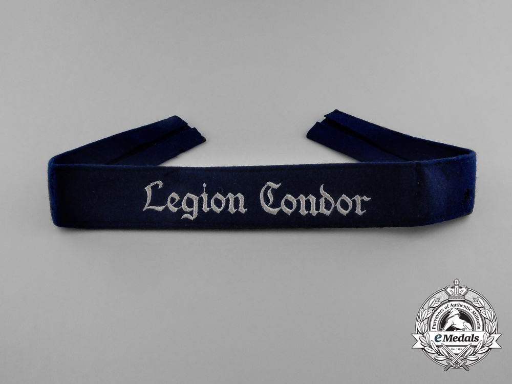 eMedals-A 53rd Luftwaffe Bomber Squadron Legion Condor Enlisted Man's Cuff Title
