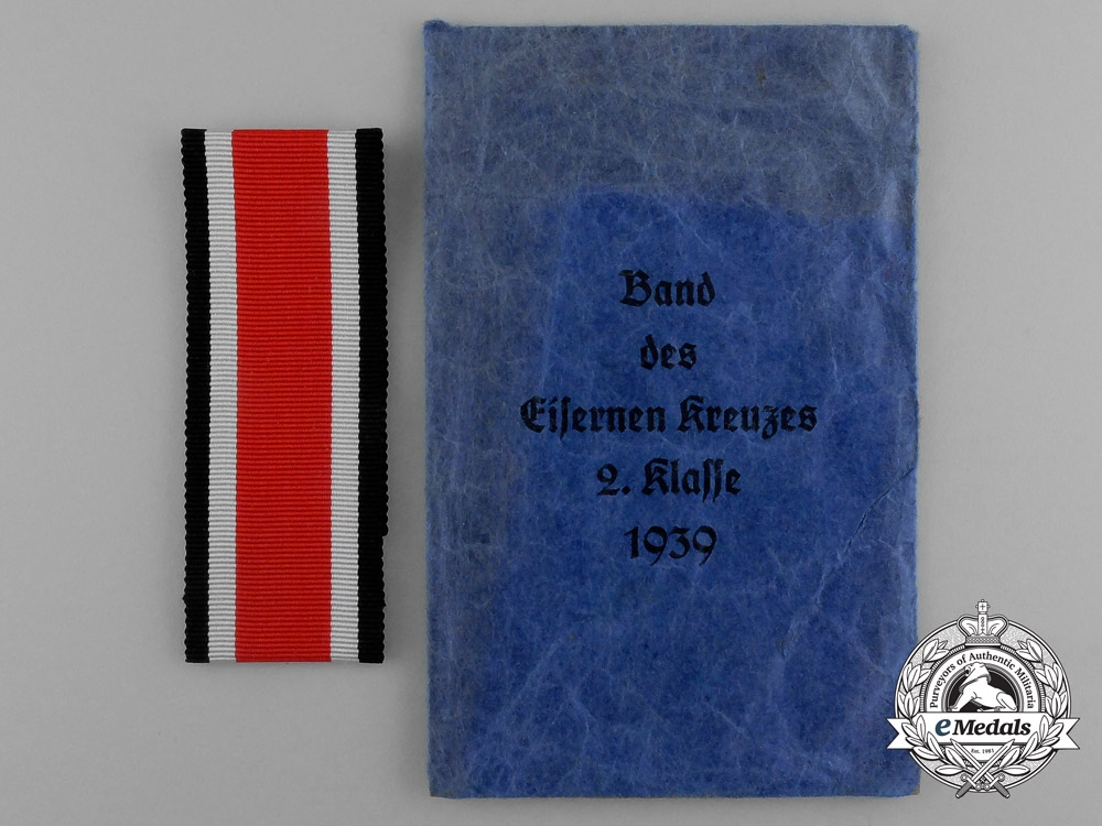 eMedals-A Mint Ribbon for an Iron Cross 1939 Second Class in its Original Packet of Issue by Karl Knoblauch