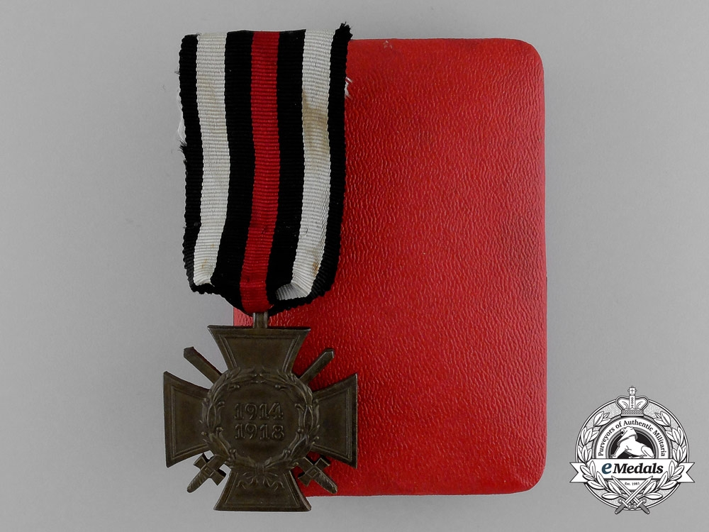 "eMedals-A Mint Honour Cross of the War 1914/18 ""Hindenburg Cross"" in its Original Case of Issue"
