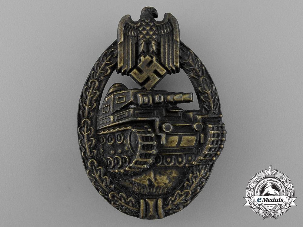 eMedals-An Absolutely Mint Bronze Grade Tank Badge by Ferdinand Wiedmann