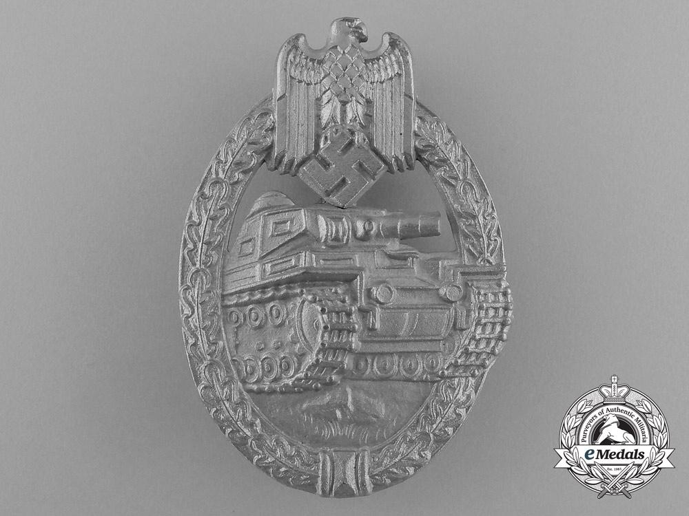 eMedals-An Absolutely Mint Silver Grade Tank Badge by Ferdinand Wiedmann