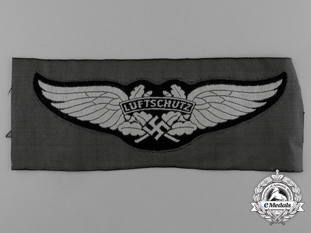 eMedals-A Mint Luftwaffe-Luftschutz Cloth Side Cap Insignia