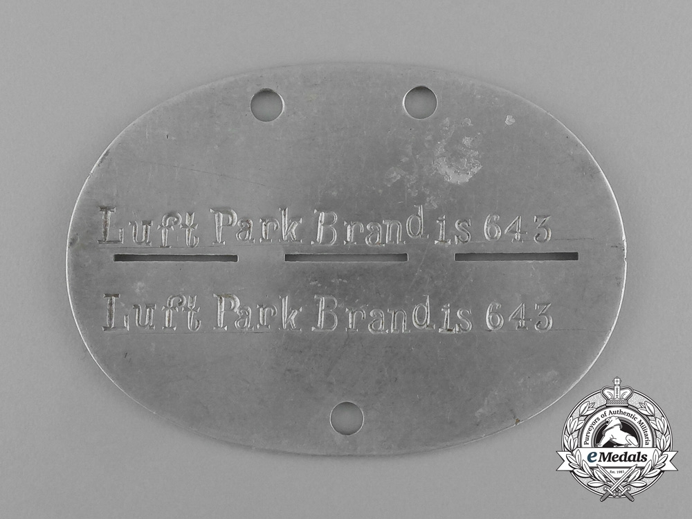 eMedals-A Luft Park (Airport) Brandis Staff Identification Tag