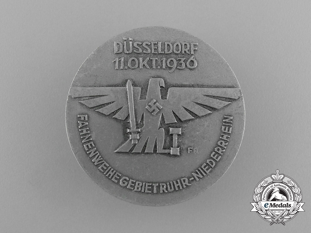 eMedals-Germany, NSDAP. A 1936 Düsseldorf Blessing of the Flag Ceremony Badge, by Paulmann & Crone
