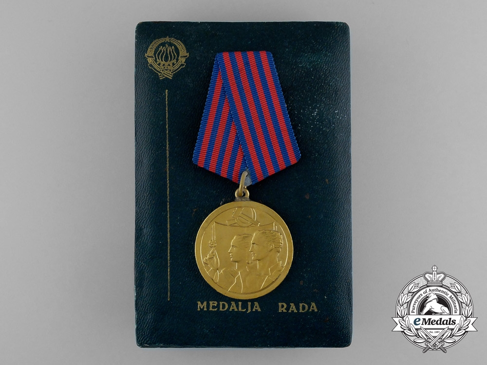 eMedals-A Yugoslavian Medal of Labour with Case