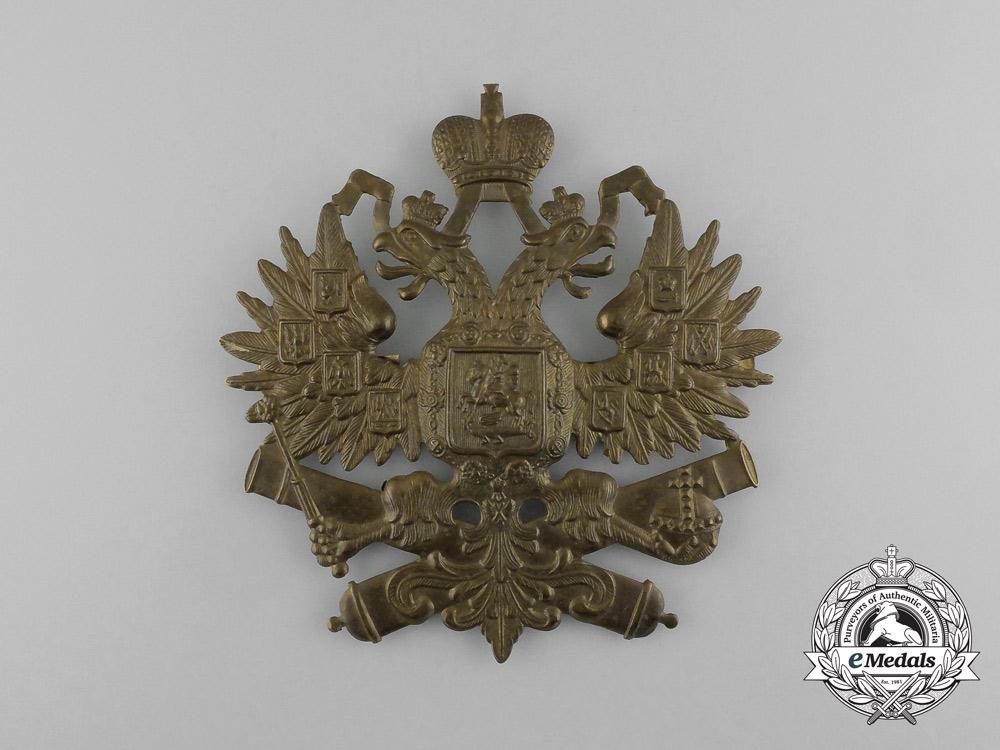 eMedals-Russia, Imperial. An Artillery Regiment Helmet Plate, c.1916