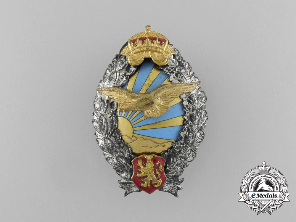 eMedals-A Second War Bulgarian Pilot's Badge; Type II
