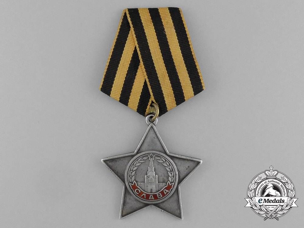 eMedals-A Soviet Russian Order of Glory; 3rd Class to Fyodor Alekseevich Chernenko