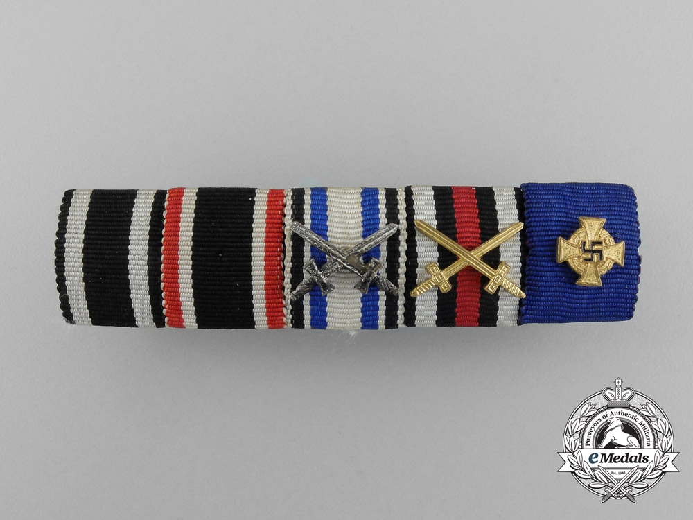eMedals-A First War and 40 Year Faithful Service Decoration Ribbon Bar
