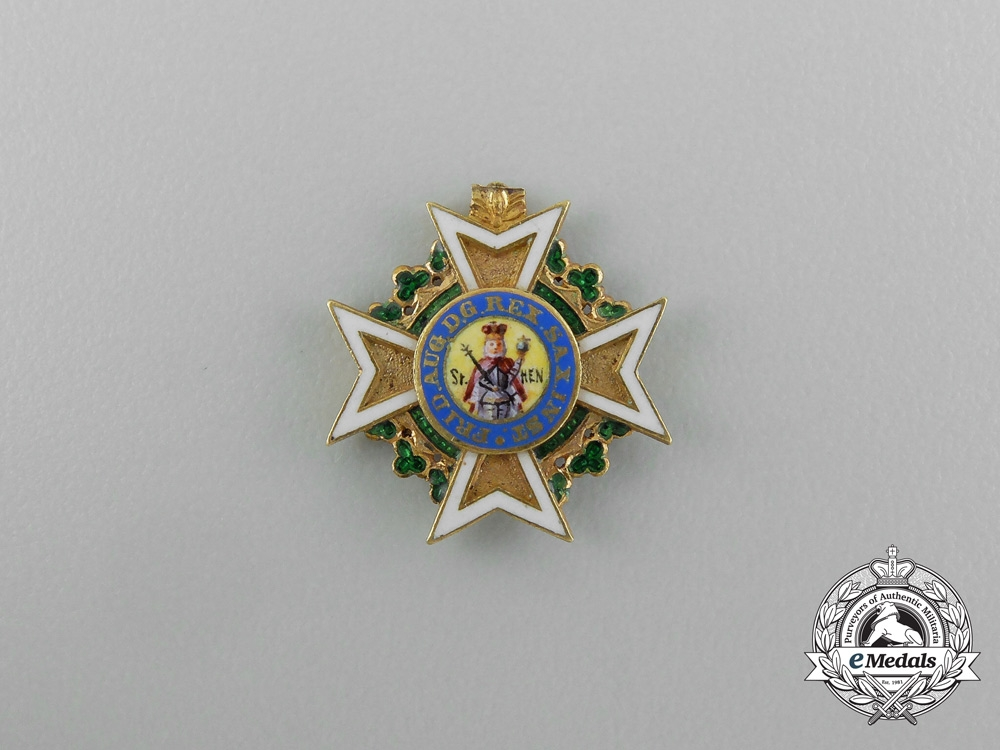 eMedals-A Minature Saxon Military Order of St. Henry in Gold