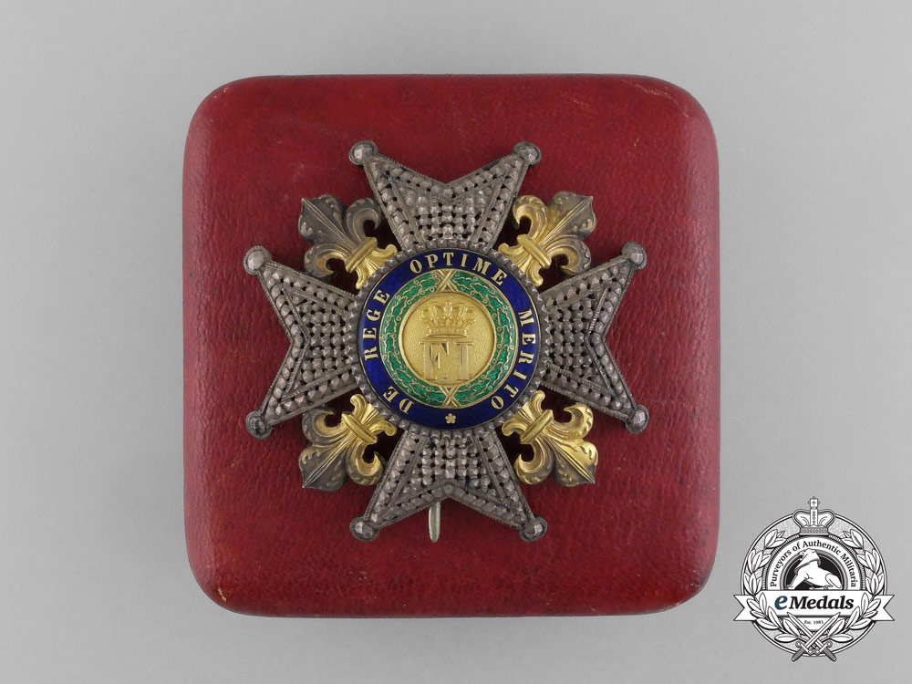 eMedals-An Kingdom of Sicily Royal Order of Francis I; Grand Cross Breast Star by Lemaitre, Paris