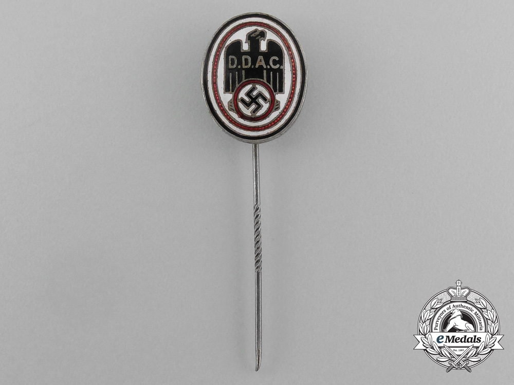 eMedals-A DDAC (German Automobile Club) Membership Stick Pin by Biedermann & Co.