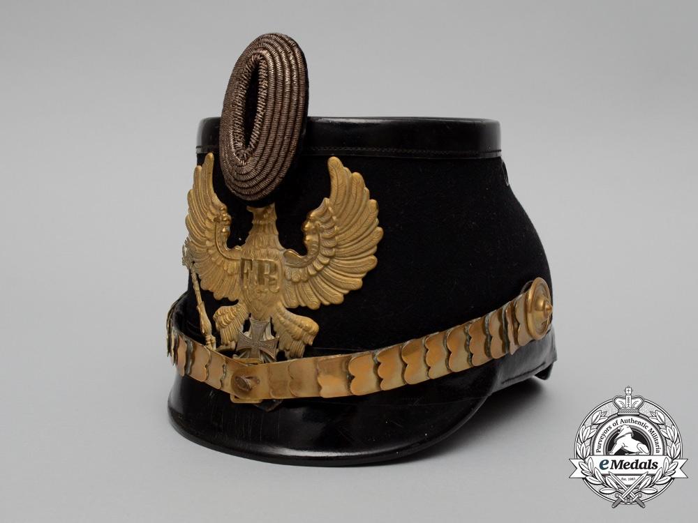 eMedals-A Prussian Reserve Officer Line Jäger Battalion Shako, 1899 Model