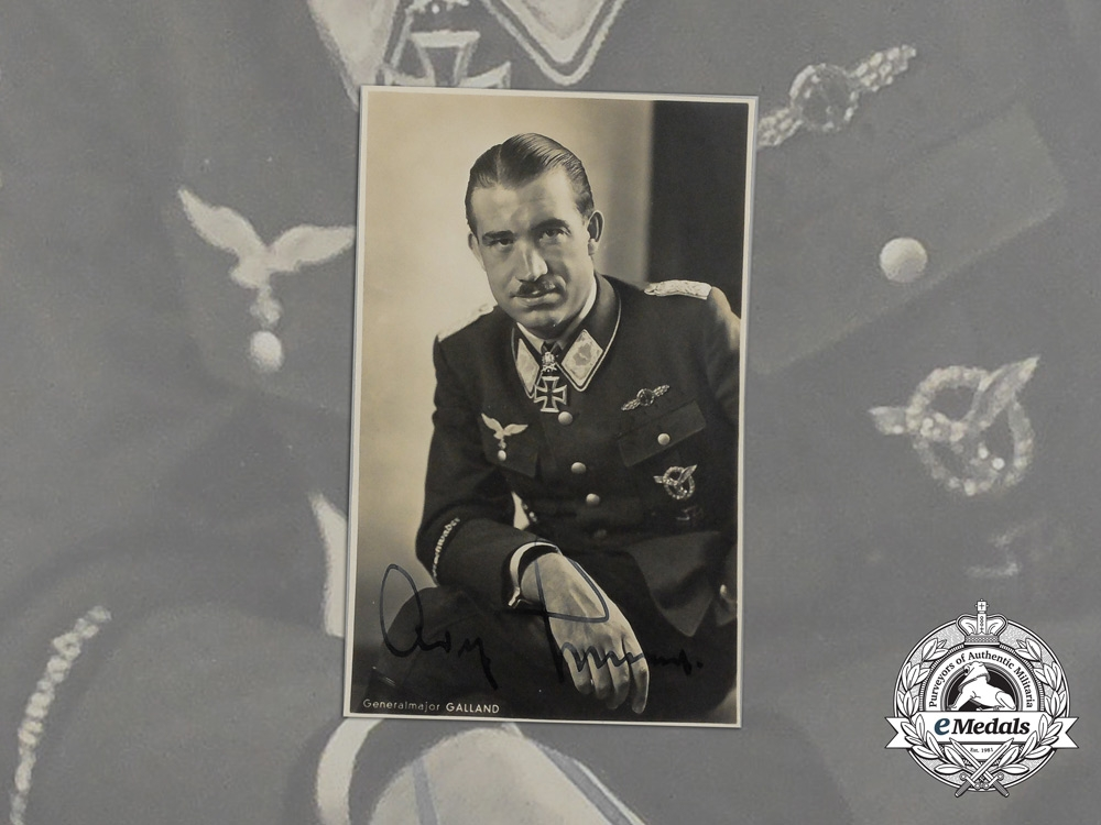 eMedals-A Signed Wartime Picture Postcard of Knight's Cross Recipient Adolf Galland