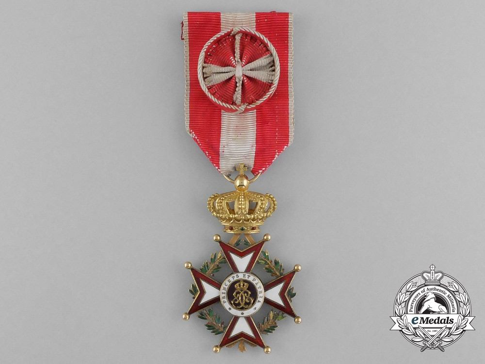 eMedals-A Superb Order of Saint-Charles in Gold; Officer